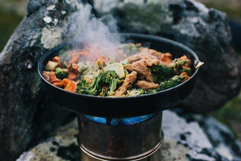camp stove food